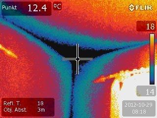 Thermografie von Wandecke