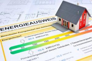 Modellhaus mit Energieausweis für Wohngebäude