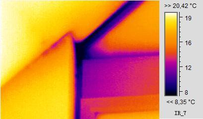 Thermografie einer Raumecke, Hof, Nürnberg Gebäudethermografie