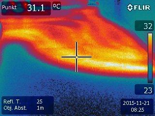 Rohrverlegung von Fußbodenheizung, Thermografie Nürnberg Hof Erlangen