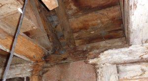 verfaulter Dachstuhl infolge fehlgeschlagener Luftdichtigkeitsmessung