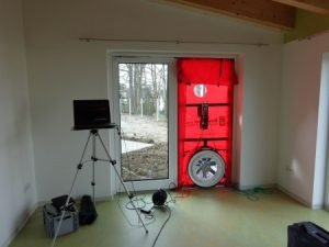 Blower Door Messung eines Kindergartens