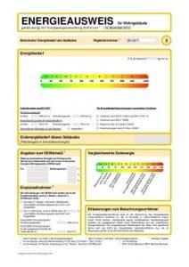 Energieverbrauchsausweis Seite 2, tätig in Hof, Bayreuth bis Nürnberg