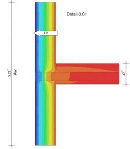 Detaillierter Wärmebrückennachweis eines Deckenanschlusses, Energieberater