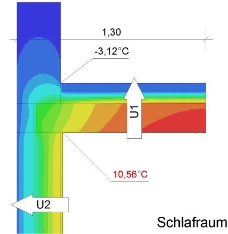 Deckenanschluss zu unbeheizten Bodenraum Deckenanschluss Außenwand Gutachter Schimmel Hof, Nürnberg Erlangen