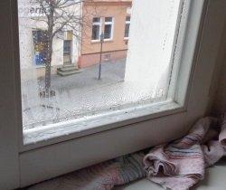 Richtig lüften, Feuchtigkeit an Fensterrahmen aufgrund hoher Luftfeuchtigkeit Energieberater Hof Erlangen Nürnberg Selb