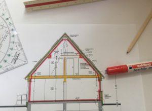 Gebäudesanierung zum Effizienzhaus, Hof, Nürnberg, Bayern Luftdichtigkeitsschicht