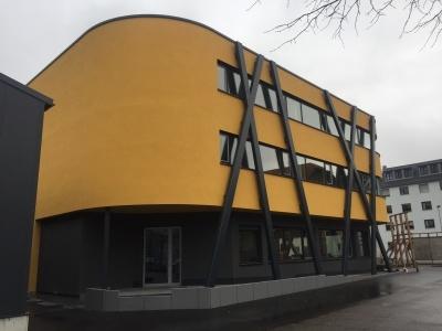 Blower Door Test Bürogebäude in Holzständerbauweise, Effizienzhaus