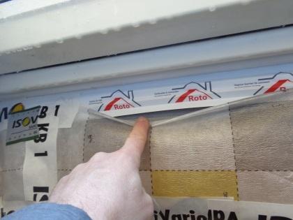 Leckage in Dampfbremse, Festgestellt mit Blower Door Test