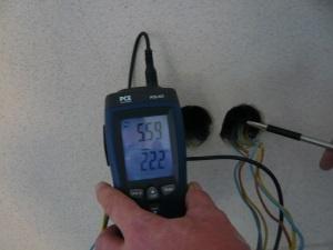 Steckdose Zugluft, Luftdichtheitsmessung, Thermografie Energieberater, Nürnberg Hof Erlangen Fürth