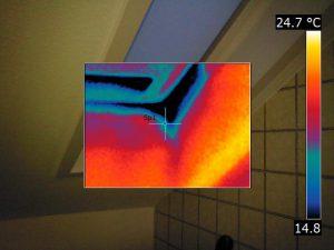 Dachfenster Thermografie, Fensterleibung, Energieverluste Nürnberg Hof Fürth