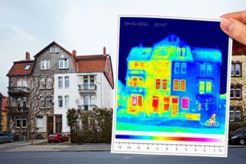 Gebäudethermografie Mehrfamilienwohnhaus, Energieberater Thermografie, Hof, Nürnberg Erlangen