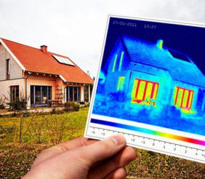 Gebäudethermografie Einfamilienwohnhaus, zertifiezierter Thermograf Energieberater Hof Erlangen Nürnberg