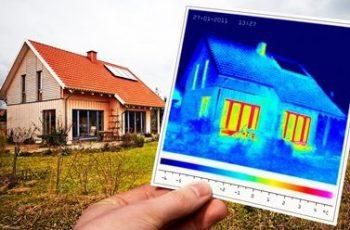 Thermografie eines Einfamilienwohnhauses